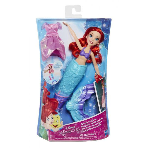 DISNEY PRINCESS ΚΟΥΚΛΑ SPLASH SURPRISE ARIEL
