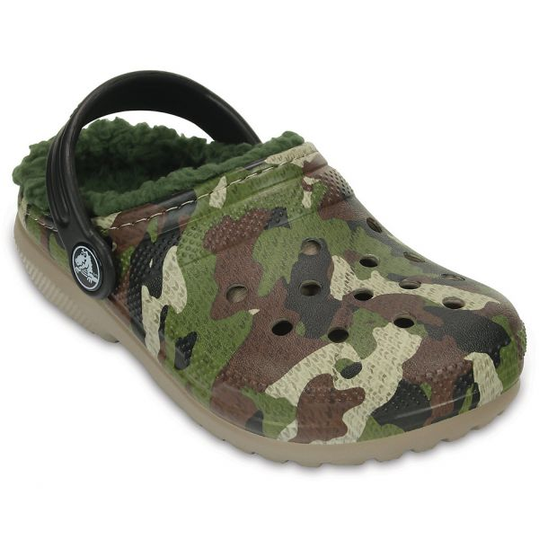 CROCS CLASSIC LINED GRAPHIC CLOG K GREEN CAMOUFLAGE