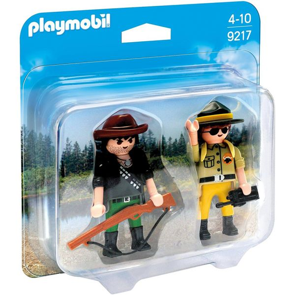 PLAYMOBIL DUO PACK ΔΑΣΟΦΥΛΑΚΑΣ ΚΑΙ ΚΥΝΗΓΟΣ