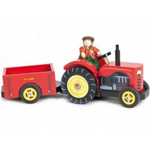 LE TOY VAN TRACTOR WITH BUDKIN 929
