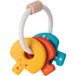 PLAN TOYS WOODEN RATTLE KEYS