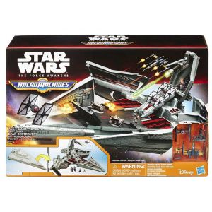 STAR WARS E7 MICROMACHINES MM VILLAIN FLAGSHIP PLAYSET