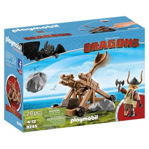 PLAYMOBIL DRAGONS GOBBER WITH CATAPULT