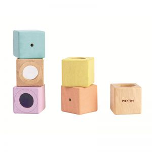 PLAN TOYS WOODEN SENSORY BLOCKS