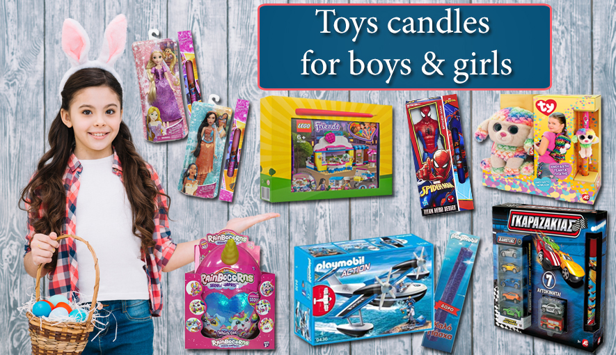 Toy candles for boys and girls