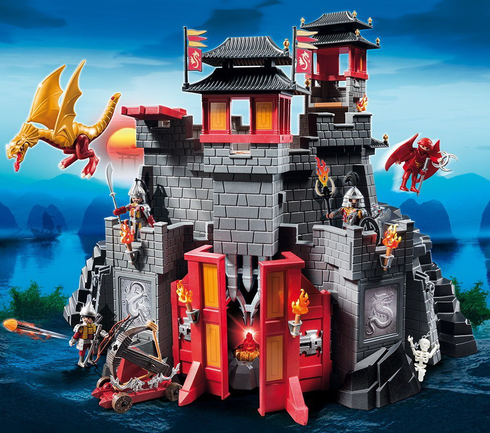 playmobil knights dragons 5479 big asian castle 249514. Black Bedroom Furniture Sets. Home Design Ideas