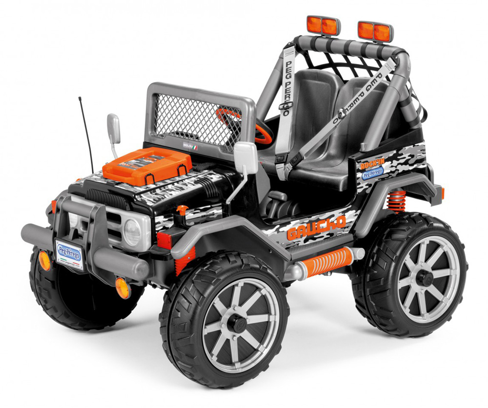 New Peg Perego 12v Jeep Gaucho Rock In 258706 Perfect
