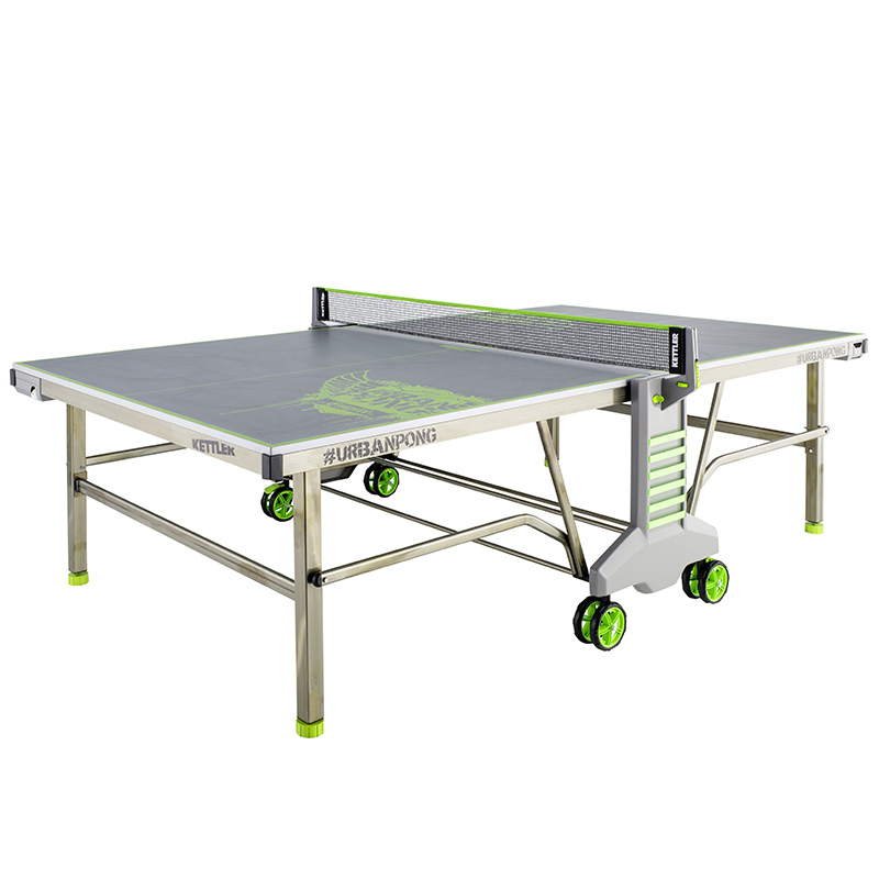 kettler tennis table urbanpong outdoor silver metal. Black Bedroom Furniture Sets. Home Design Ideas