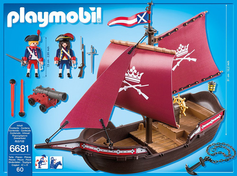 playmobil pirates soldiers patrol boat 278999 perfect. Black Bedroom Furniture Sets. Home Design Ideas