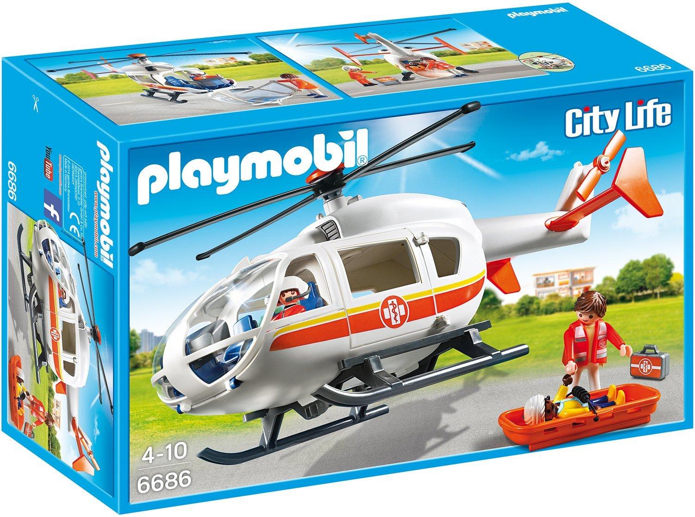 playmobil city life emergency medical helicopter 279085. Black Bedroom Furniture Sets. Home Design Ideas