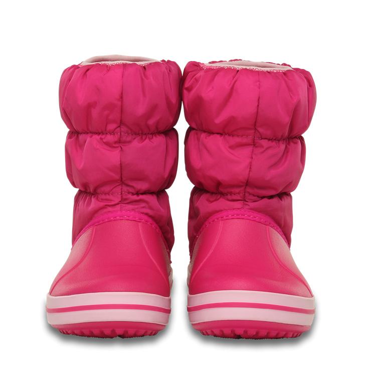 CROCS WINTER PUFF BOOT KIDS CANDY PINK ( 14613-46XO) 4f26a267340