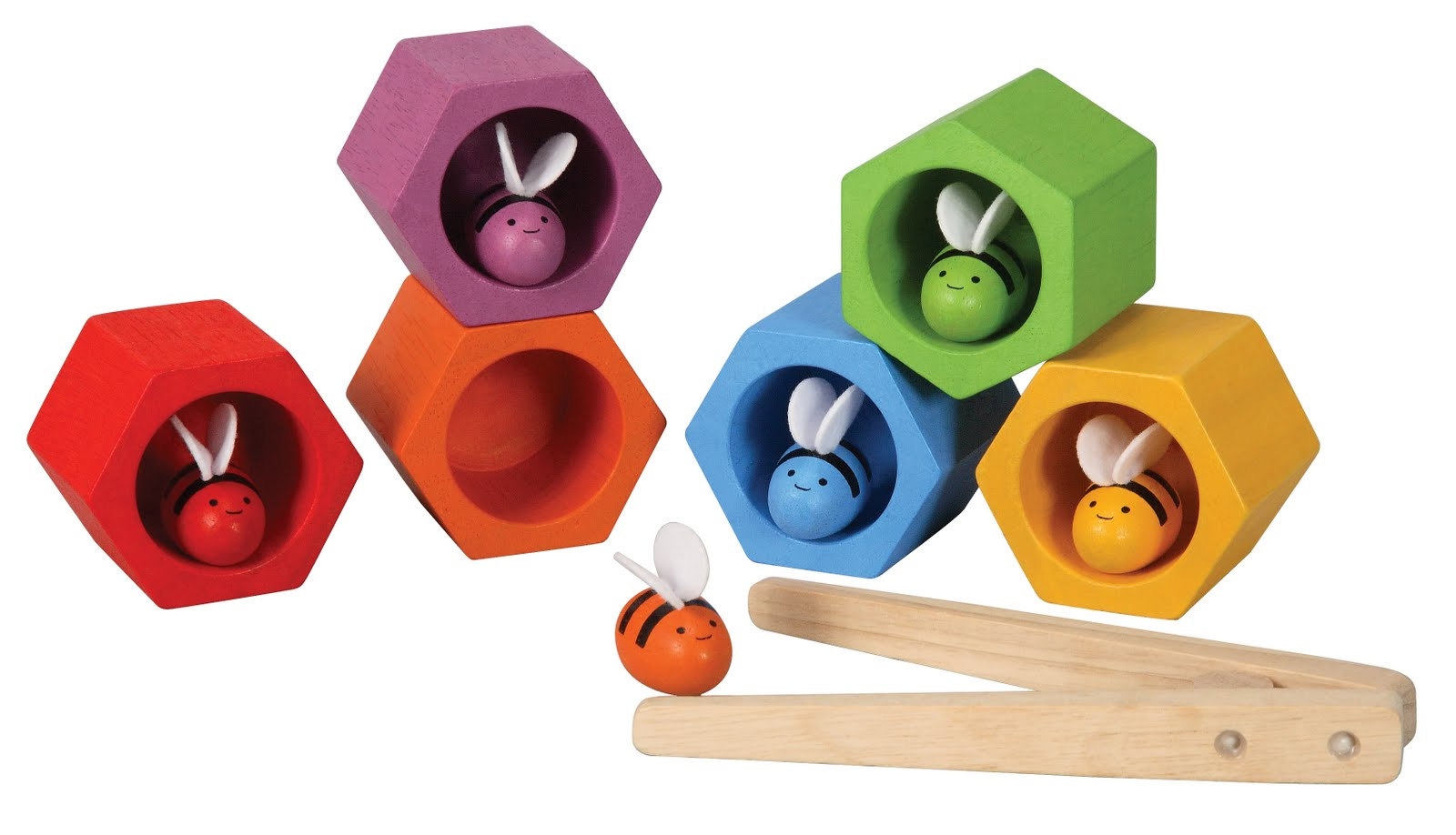 WOODEN GAME PLAN TOYS BEEHIVES-CELLS (#207605) Perfect Toys - Pantazopoulos