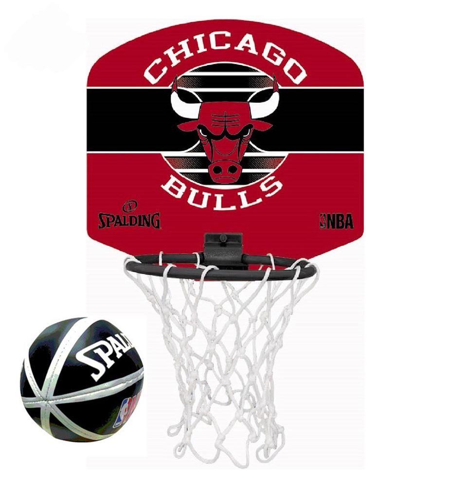 77dffd2eb038a SPALDIND NBA TEAM MICRO MINI BASKET BOARD BULLS ( 77-649Z1)